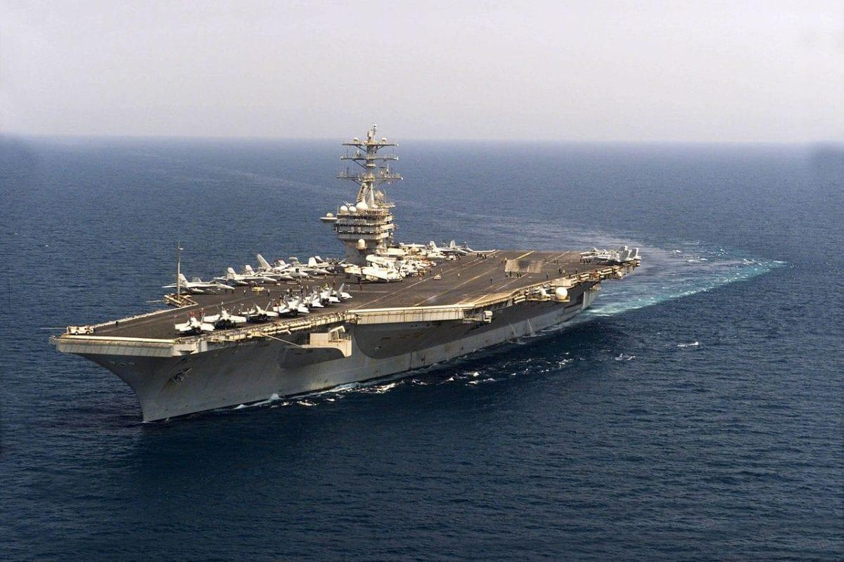 US Navy's carrier, the USS Nimitz seen in the Arabian Gulf on June 29, 2003 during 'Operation Iraqi Freedom' [Kristi J. Earl / US Navy]