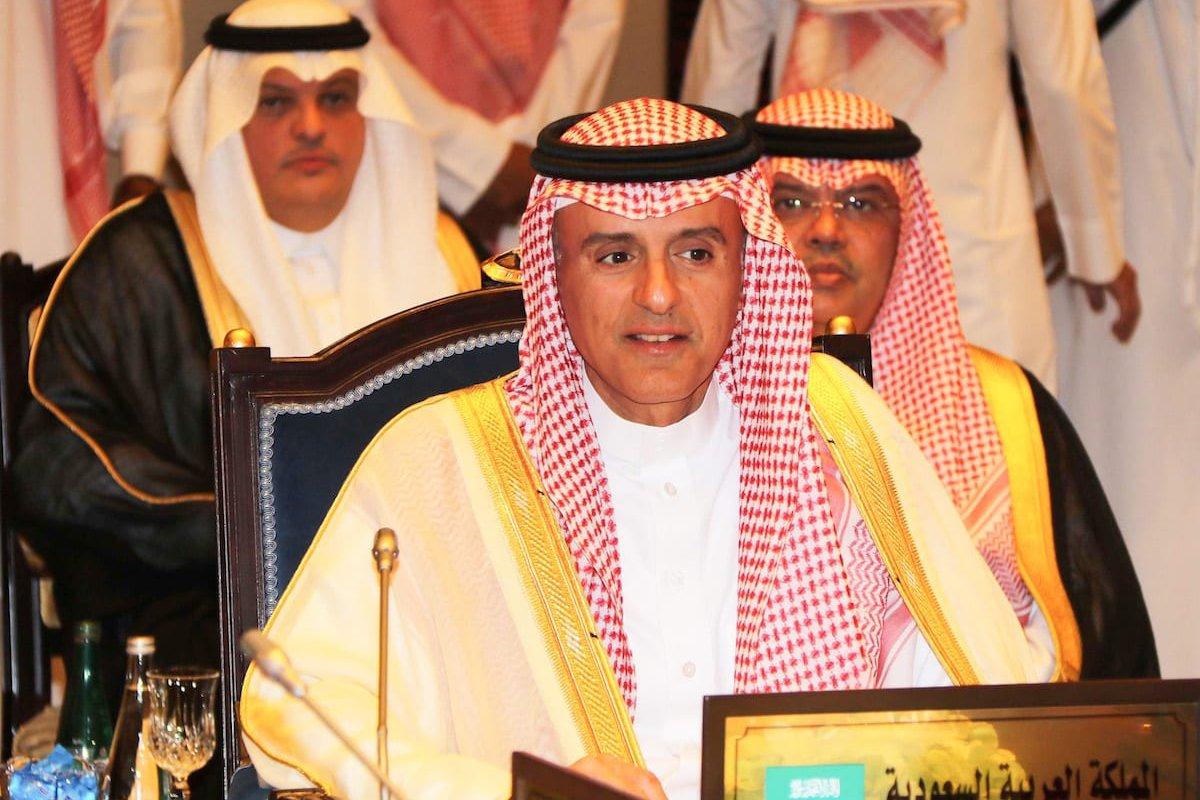 Saudi Arabian Foreign Minister Adel bin Ahmed Al-Jubeir in Manama, Bahrain on 30 July, 2017 [Stringer/Anadolu Agency]