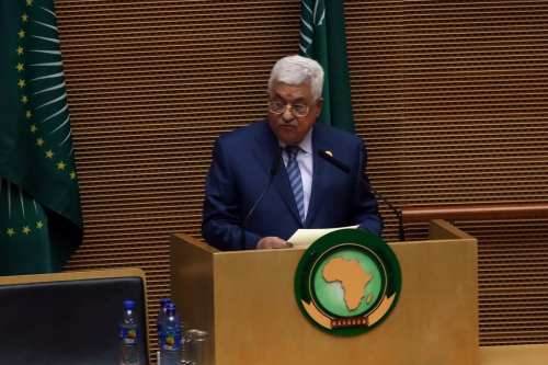 Palestinian President Mahmoud Abbas delivers a speech during the opening ceremony of the 29th African Union Summit in Addis Ababa, Ethiopia on 3 July, 2017 [Minasse Wondimu Hailu/Anadolu Agency]