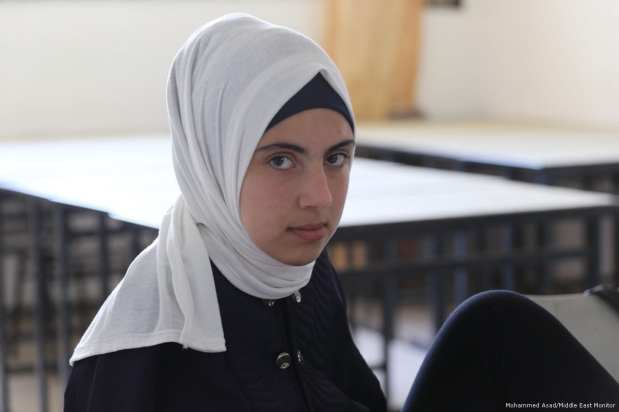 Image of Seventeen-year-old Palestinian Aya Masoud [Mohammed Asad/Middle East Monitor]