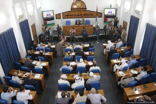 The Palestinian Legislative Council held in Gaza on 27 July, 2017 [Mohammed Assad/Middle East Monitor]