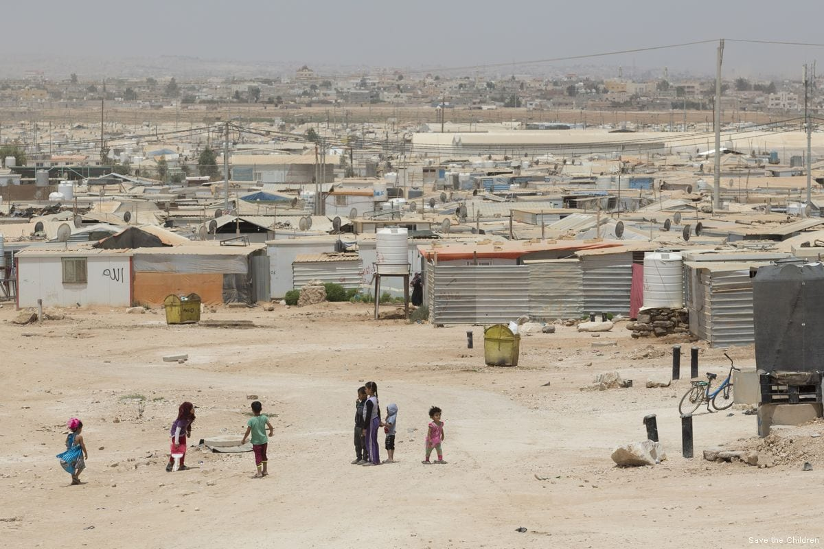 Jordan's Za'atari refugee camp which is home to 80,000 Syrian refugees [Save the Children]