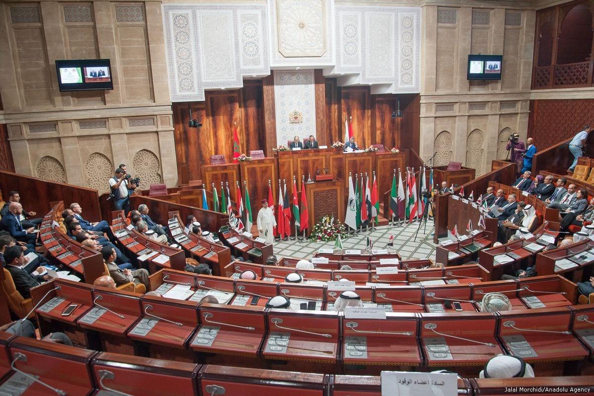 The Arab Inter-Parliamentary Union in session in Rabat, Morocco on 27 Jul 2017 [Jalal Morchidi/Anadolu Agency]