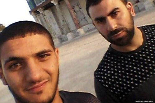 Image of the 3 cousins (all same names) that were killed by Israeli Occupiers at Al-Aqsa. Mohammad Jabarin, 19, 19 and 29 [Muhammad Smiry/Twitter]