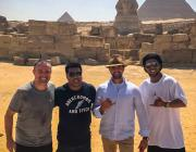 Ronaldinho during his trip to see the pyramids of Giza in Egypt. [Image: facebook.com | ronaldinho]