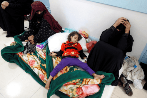 "Yemen is currently witnessing ""the biggest outbreak of cholera in the world"" according to the World Health Organisation (WHO) [Twitter]"