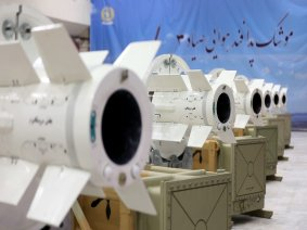 Iran's new air defence missiles seen at their production facility on July 22 2017, [Iranian Ministry of Defence]