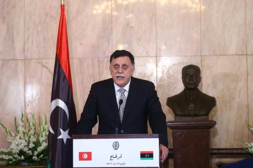 Chairman of the Presidential Council of Libya and Prime Minister of the Government of National Accord of Libya, Fayez al-Sarraj in Tunis, Tunisia on August 07, 2017. ( Yassine Gaidi - Anadolu Agency )