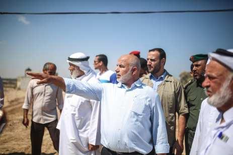 Deputy Minister of Interior Affairs of Palestine, Tevfik Ebu Naim (C) informs a committee of Palestinian Legislative Council in Gaza City, Gaza on 23 August 2017 [Mustafa Hassona/Anadolu Agency]