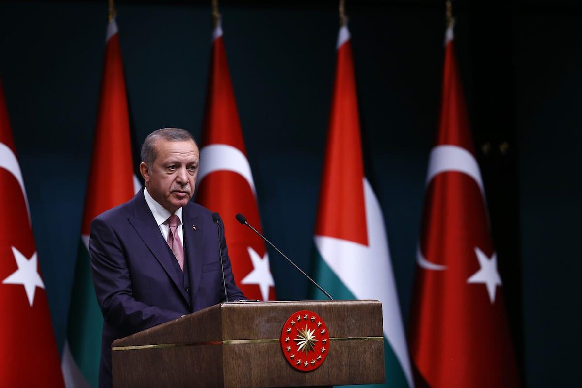 President of Turkey, Recep Tayyip Erdogan in Ankara, Turkey on 28 August 2017 [Mehmet Ali Özcan/Anadolu Agency]