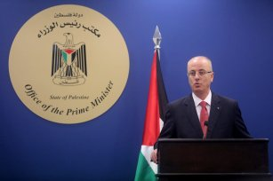 Prime Minister of Palestine Rami Hamdallah in Ramallah, West Bank on 29 August 2017 [Issam Rimawi/Anadolu Agency]