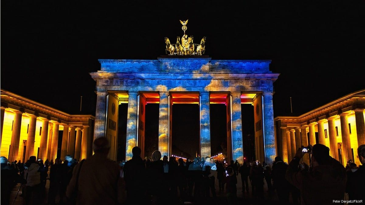 Brandenburg Gate during the Berlin Pop Kulture Festival [Peter Dargatz/FlickR]