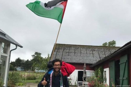 Pro-Palestinian Swedish activist started a 4,800 kilometre trek to Palestine [Benjamin Ladra/Facebook]