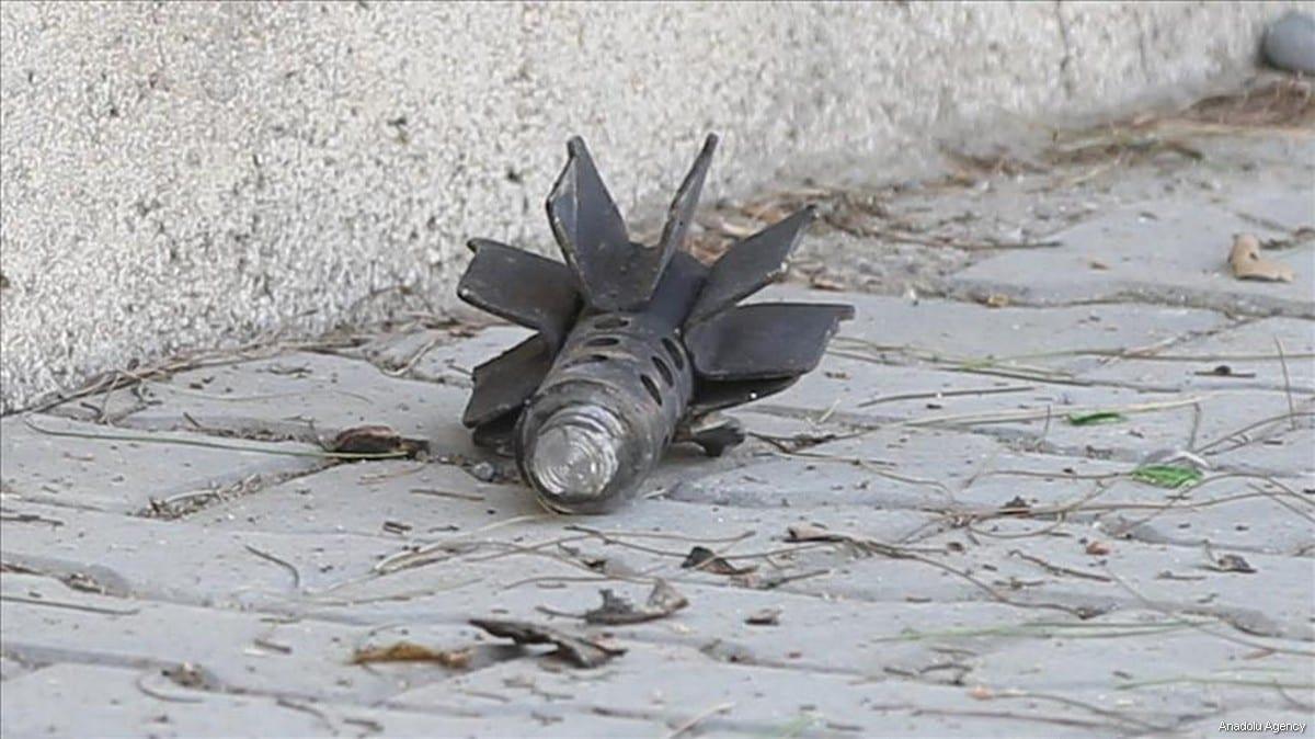 Image of a mortar [Anadolu Agency]