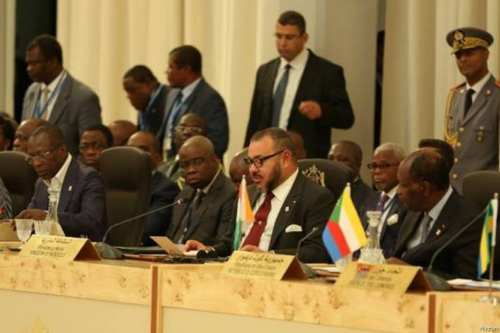 King of Morocco Mohamed VI during African Union Summit [Mugtama]