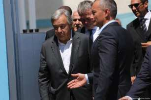 United Nations Secretary-General Antonio Guterres in Gaza on 30 August 2017 [Mohammed Asad/Middle East Monitor]