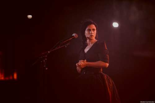 Tunisian singer, Emel Mathlouthi, performing at the 53rd Carthage Festival