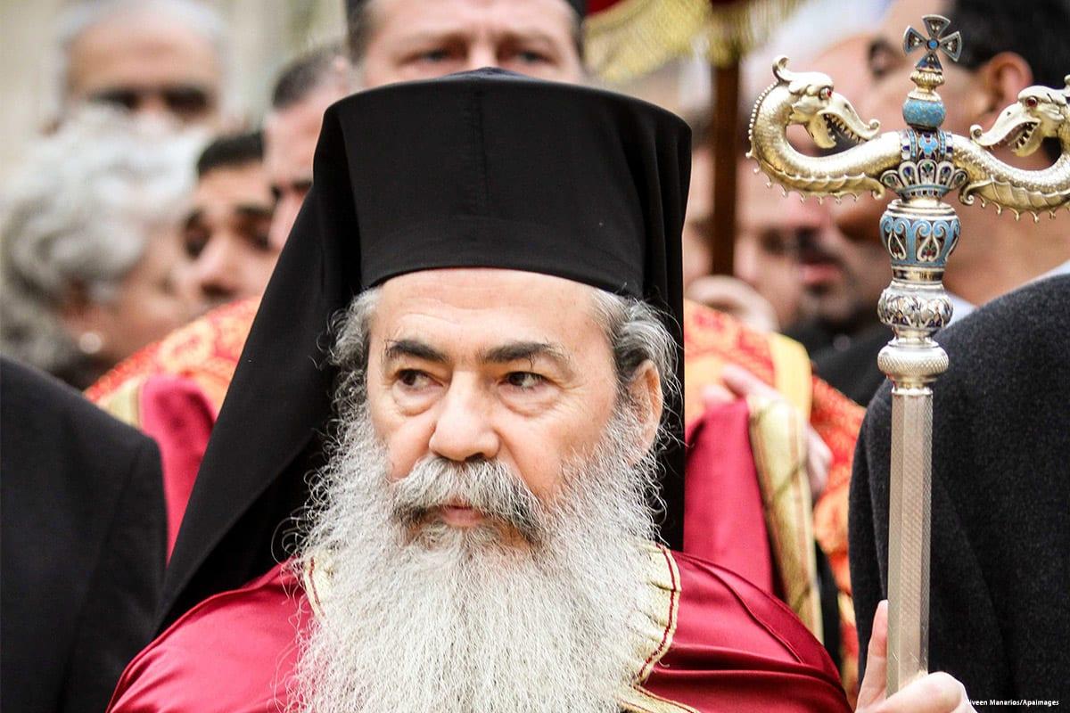 Theophilos III, the Greek Orthodox Patriarchate of Jerusalem [Niveen Manarios/Apaimages /Apaimages]