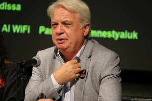 Chairman of the Palestinian Solidarity Campaign HUgh Lanning [Jehan Alfarra/Middle East Monitor]