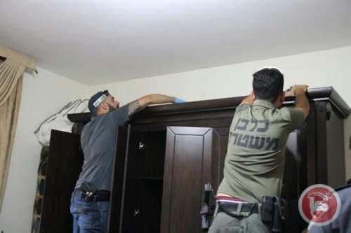 Image from the Israeli raid. Photo: Maan