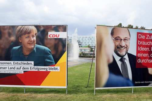 German Political parties' electoral campaign posters are seen on the billboards ahead of the general elections which will be held 24th of September this year, at the Ernst-Reuter-Platz in Berlin, Germany on September 03, 2017 [Cüneyt Karadağ / Anadolu Agency]