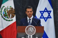 President of Mexico Enrique Pena Nieto attends a press conference at Los Pinos Presidential residence in Mexico City, Mexico on 14 September 2017 [Daniel Cardenas/Anadolu Agency]