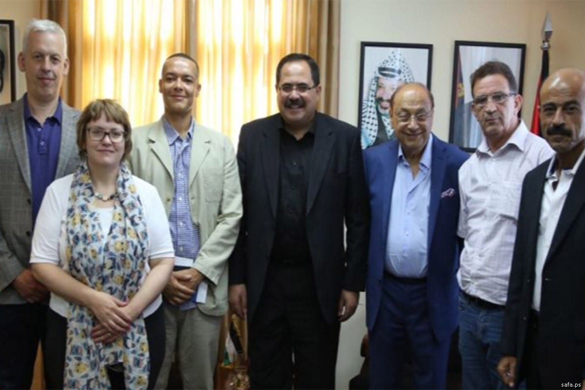 Sabri Saidam, Palestinian Education Minister and British delegation on 20 September, 2017 [safa.ps]
