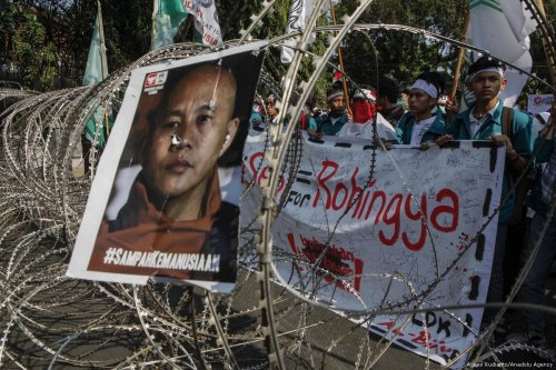 Protest against Myanmar`s oppression towards Rohingya Muslims in Indonesia on 8 September 2017 [Agoes Rudianto/Anadolu Agency]