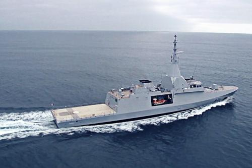 First sea trials of the French-made Gowind 2500 corvette El Fateh, made for the Egyptian Navy [Ahmed XIV / Wikipedia]