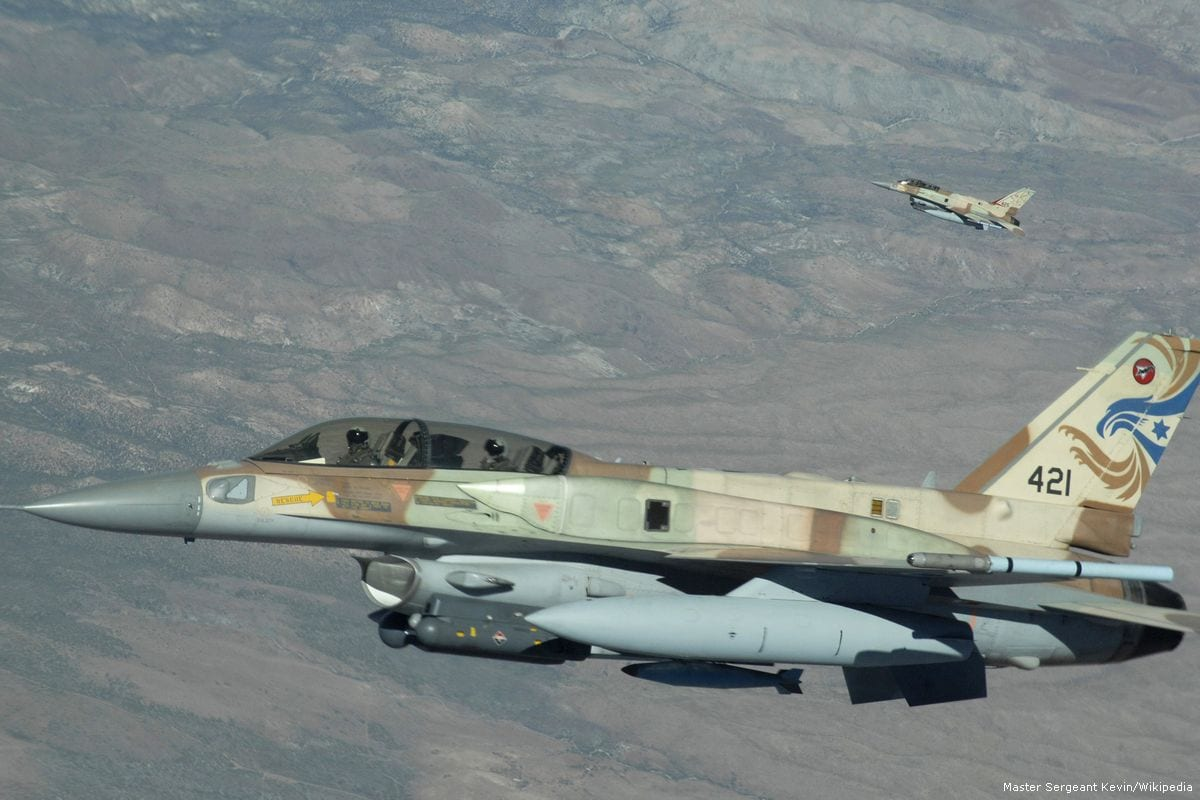 Israeli war planes seen during a training excercise [U.S. Air Force photo/Wikipedia]