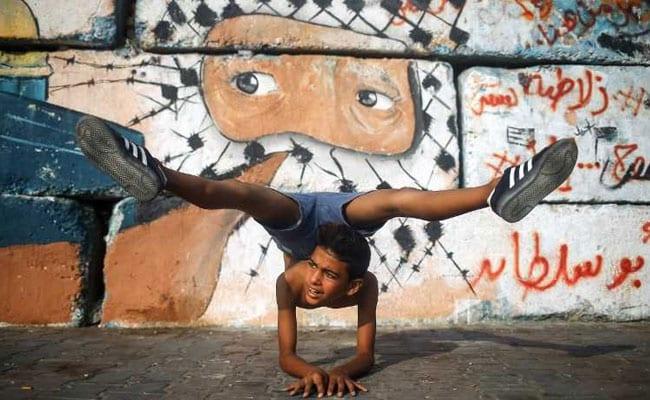 12 year old Gazan contortionist, Youssef Al-Bahtini
