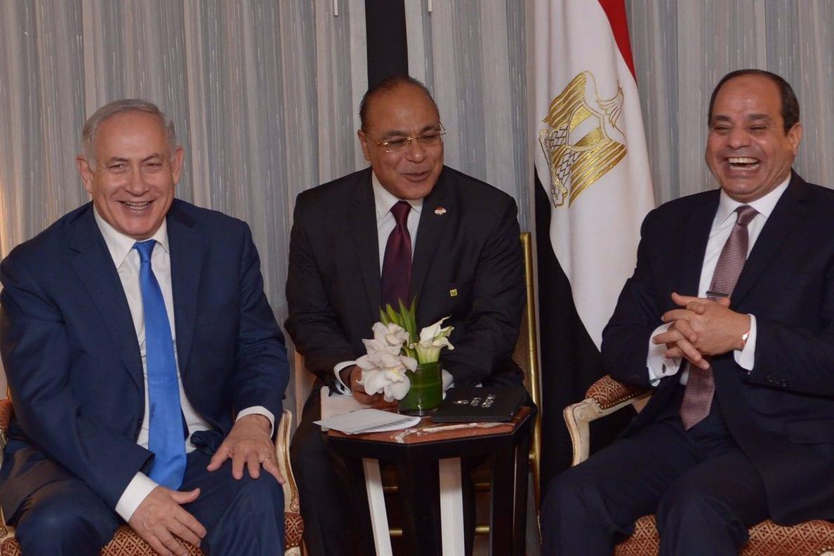 Sisi and Netanyahu meet in New York 18 September 2017 [thenewkhalij]