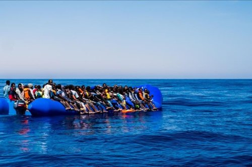 Migrants in the Med [File photo, AA]