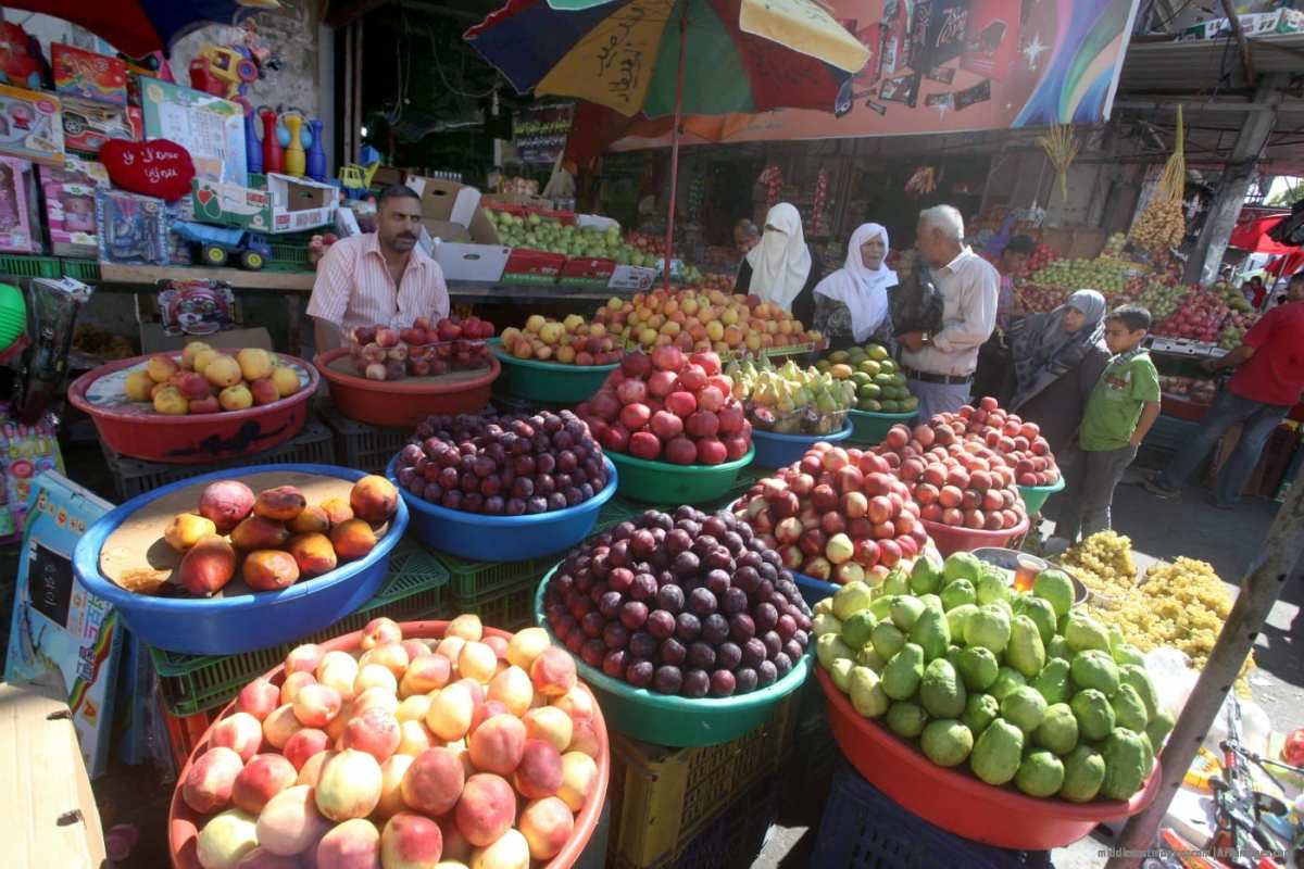Fresh fruit at the market in Gaza. [File photo: APAimages]
