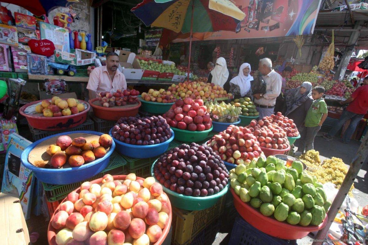 Fresh fruit at the market in Gaza. [File photo: APAimages]