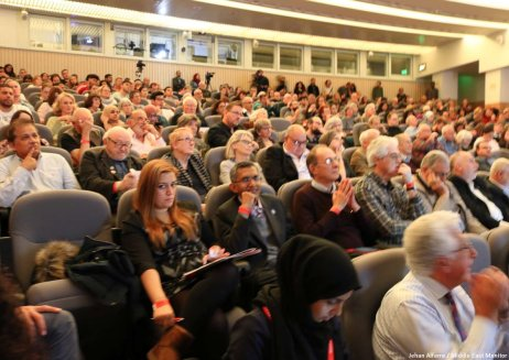 Auditorium of guests attending the Palestine, Britain and the Balfour Declaration 100 years on. conference. Image by Jehan Alfarra