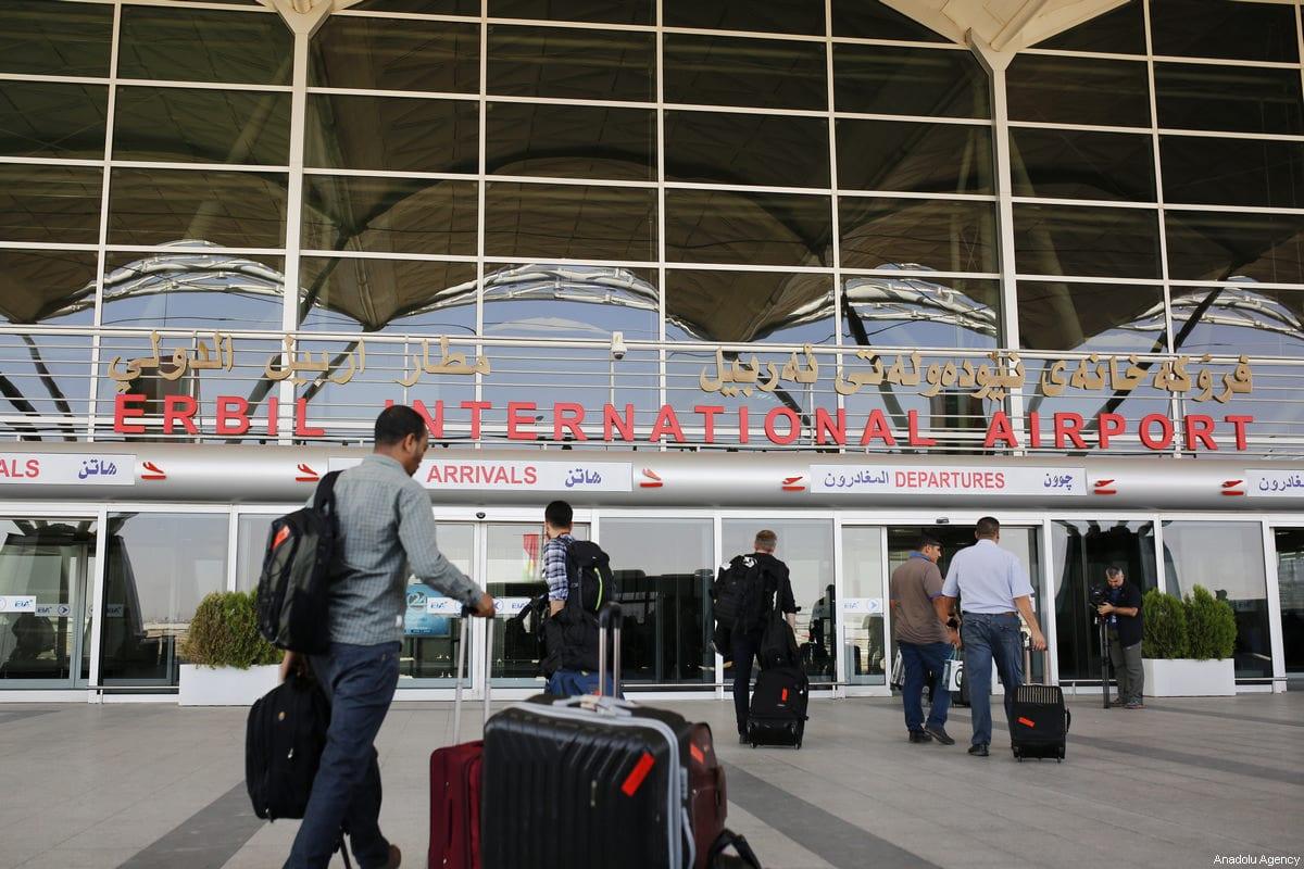 People at Erbil International Airport in Erbil, Iraq on 29 September 2017 [Yunus Keleş/Anadolu Agency]