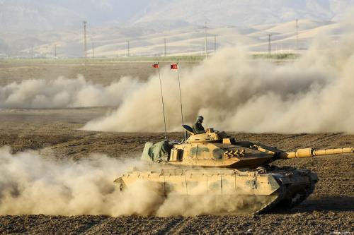 Turkish armed forces near the Turkish-Iraqi border on 29 September 2017 [Fatih Aktaş/Anadolu Agency]