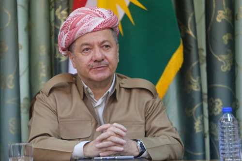 Kurdish Regional Government (KRG) President Masoud Barzani in Iraq on 15 October, 2017 [Feriq Fereç/Anadolu Agency]