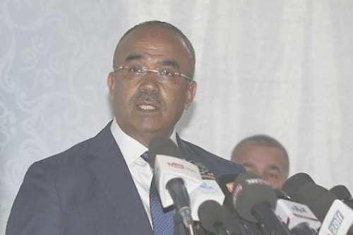 Algerian Interior Minister Noureddine Bedoui