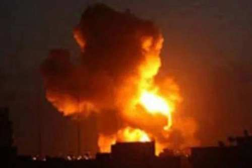 US-coalition airstrike on Syria's Raqqa on 9 March 2017 [Syrian Observatory for Human Rights, File photo]