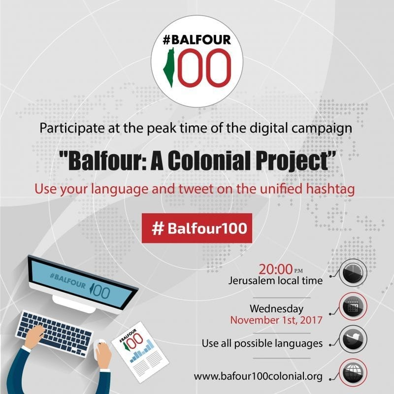 Digital campaign to mark 100 years since the Balfour Declaration was issued by Lord Arthur Balfour