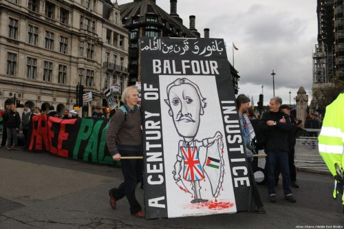 Palestinians hire UK-based law firm to prosecute UK gov't over Balfour Declaration