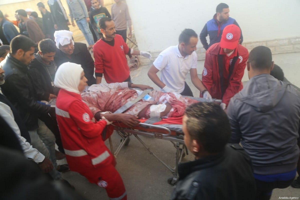 The wounded are taken to the hospital after the Egypt Sinai mosque bombing in Al-Arish, Egypt on 24 November 2017. [Anadolu Agency]