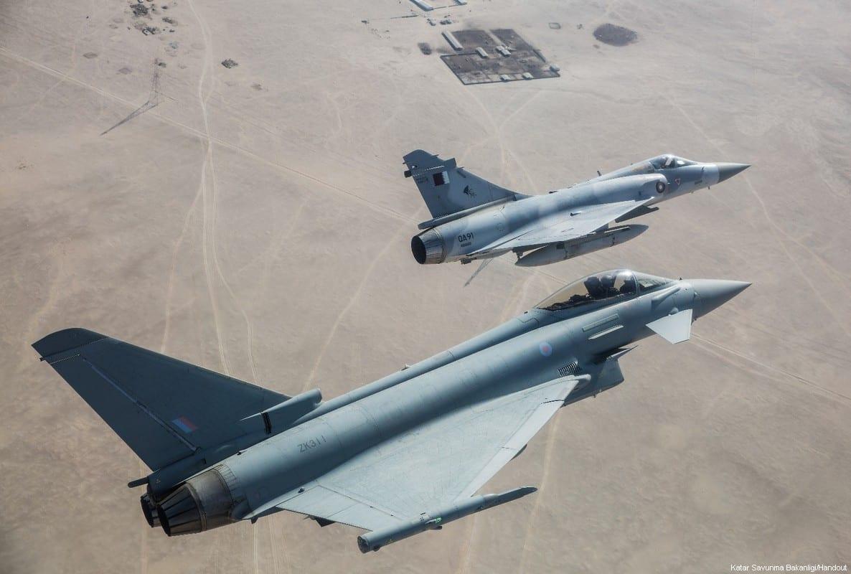 The Qatar Air Force concluded its military exercise with the British Royal Air Force at the Al-Nathir Air Base in Doha on 30 November 2017. [Katar Savunma Bakanlığı/Handout]