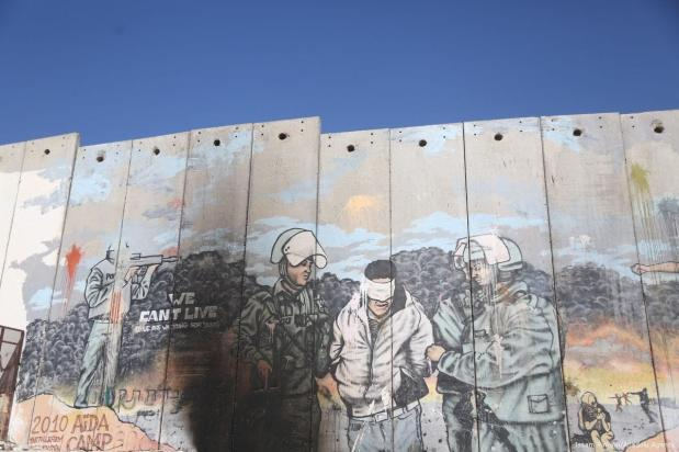 Graffiti Art Is Seen On The Illegal Israeli Separation Wall In The Occupied West Bank Town