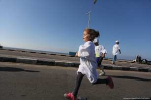 The Palestinian Athletics Federation in the Gaza Strip organises a marthon to mark the end to internal divisions [Mohammed Asad/Middle East Monitor]