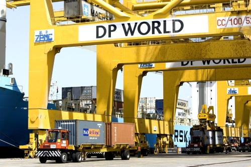 Jebel Ali Port, managed by DP World in Dubai, United Arab Emirates, May 10, 2007 [Nemanja Seslija / ITP Images]