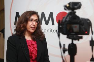 Prof. Madawi Al-Rasheed at MEMO's 'Saudi in Crisis' conference, on November 19, 2017 [Middle East Monitor]