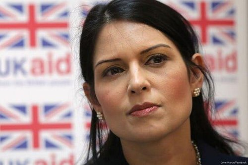 UK Home Secretary Priti Patel [John Martin/Facebook]